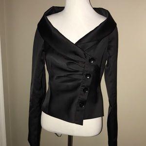 Battibaleno Black Satin Jacket Size 6